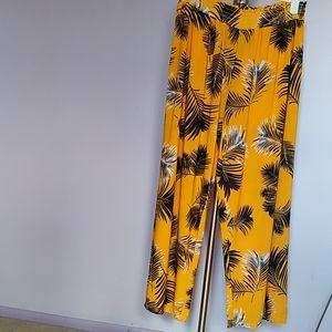 Yellow Plazzo Pants